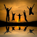 Jumping Silhouette Stock Images