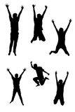 Jumping Silhouettes Stock Photo