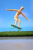 Jumping with skate Stock Photography