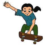 Jumping skateboarder cartoon Stock Photography