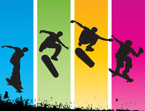 Jumping skater Stock Photo