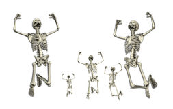Jumping Skeletons. Some active skeletons that are jumping around Stock Photography