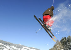 Jumping skier Stock Photos