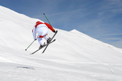 Jumping skier Royalty Free Stock Photography