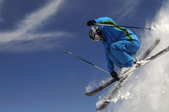 Jumping skier royalty free stock photos