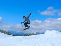 Skiing resort Bukovel. Carpathian mountains, Ukraine. Royalty Free Stock Photos