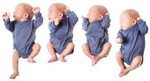 Jumping small baby boy Royalty Free Stock Images