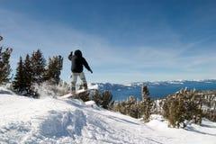 Jumping Snow Border Stock Photos