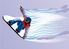 Jumping snowboarder. Stock Photo