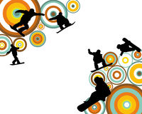 Jumping Snowboarder Silhouette Royalty Free Stock Images