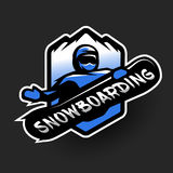 Jumping snowboarder, sport logo. Royalty Free Stock Photo