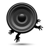 Jumping speaker Royalty Free Stock Images