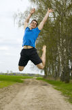 Jumping sportsman Stock Image