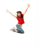 Jumping teenage girl Royalty Free Stock Photo