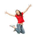 Jumping teenage girl Royalty Free Stock Images