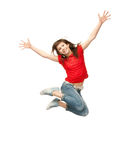 Jumping teenage girl Royalty Free Stock Photo