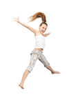 Jumping teenage girl Royalty Free Stock Photos