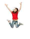 Jumping teenage girl Stock Image