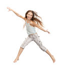 Jumping teenage girl Royalty Free Stock Photography