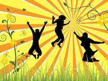 Jumping teenager Royalty Free Stock Photos