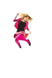 Jumping teenager girl Stock Photo