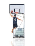 Jumping to the hoop Royalty Free Stock Images