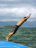 Jumping to sea Royalty Free Stock Photos