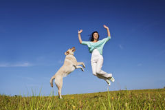 Jumping Up Stock Image