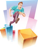 Jumping Up Stock Photography