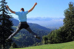 Jumping up man Royalty Free Stock Photography