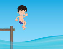 Jumping into water Royalty Free Stock Photos