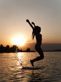 Jumping from water Royalty Free Stock Photo