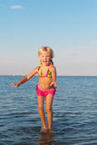 Jumping in the water child Royalty Free Stock Photo
