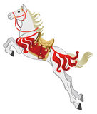 The jumping White Horse, Isolated Stock Photography