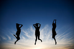 Jumping With Joy Royalty Free Stock Images