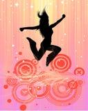 Jumping woman Royalty Free Stock Photos