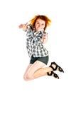 Jumping woman Royalty Free Stock Photo