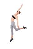 Jumping woman Royalty Free Stock Image