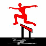 Jumping woman illustration Stock Image