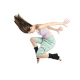 Jumping young dancer isolated Stock Photo