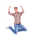 Jumping young man royalty free stock images