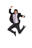 Jumping young man Stock Photo