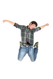 Jumping young man Royalty Free Stock Image