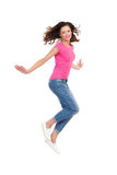 Jumping Young Woman Royalty Free Stock Photography