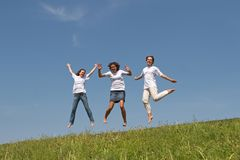 Jumps 3 Royalty Free Stock Images