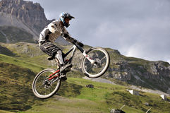 Jumpy biker Royalty Free Stock Images