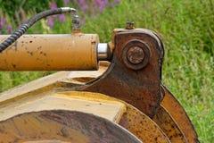 Junção da cubeta da máquina escavadora reparada Foto de Stock