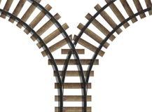 Junção da estrada de ferro ilustração royalty free