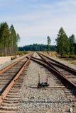Junção da trilha de estrada de ferro Imagens de Stock