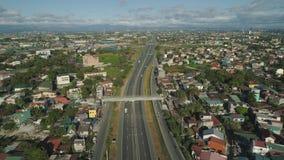 Junção de estrada em Manila, Filipinas fotografia de stock royalty free